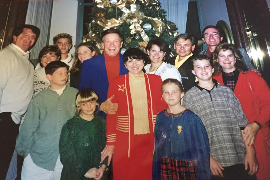 Wink and Sandy Martindale with Family, Christmas Circa 1998