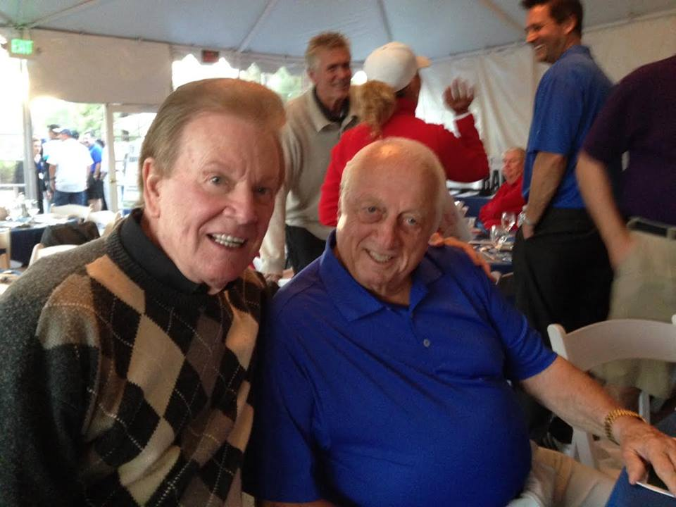 Wink and Tommy Lasorda
