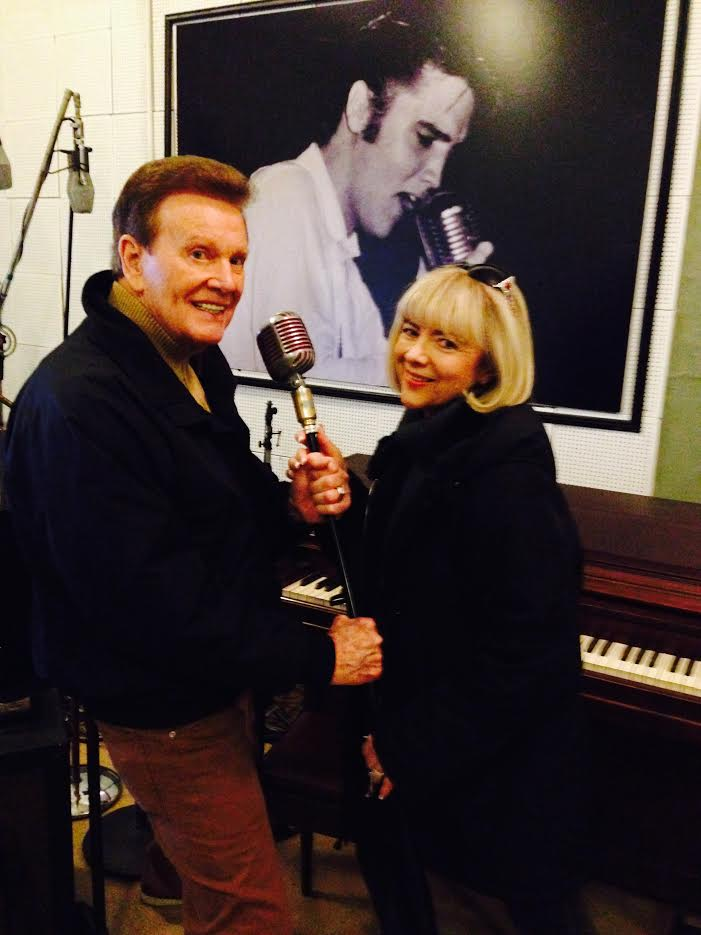 Wink and Sandy Martindale at Sun Studio, Memphis