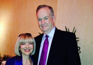 Sandy Martindale and Bill O'Reilly