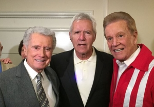 Wink Martindale with Alex Trebek and Regis Philbin