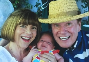 Wink and Sandy Martindale with Baby