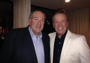 Wink Martindale and Mike Huckabee
