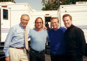 Wink Martindale with Jim Lang, Fred Westbrook and Bob Eubanks