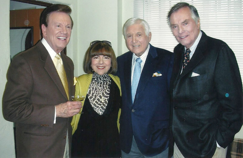 Wink and Sandy Martindale with Monty Hall and Peter Marshall