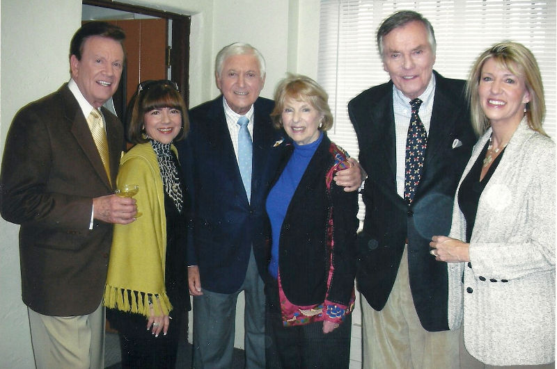 Wink and Sandy Martindale with Monty Hall & Wife and Peter Marshall & Wife